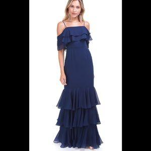 Wayf Lauren Cold shoulder maxi dress
